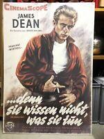 """Filmplakat """"denn sie wissen nicht was sie tun""""(1955), James.Dean München - Neuhausen Vorschau"""