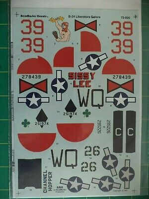 B-24 Liberators Galore AeroMaster No. 72-020 1:72 Scale Decals