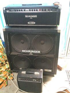 Behringer gmx1200h amp and bg412s quadbox Lilydale Yarra Ranges Preview