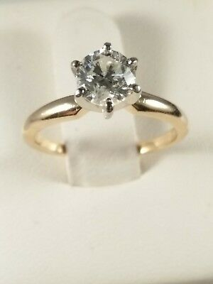 14Kt Diamond Engagement Ring 0.65