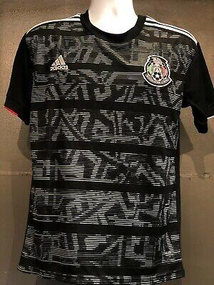 adidas Mexico 2019 Men's Soccer Jersey Black SM-XL El Tri Adidas Soccer Jersey