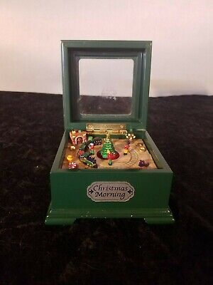 Mr. Christmas Jingle Bells Mini Music Box Green With Moving Train Set
