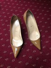 Authentic Christian louboutin size 36.5 patent leather tan nude Wolli Creek Rockdale Area Preview
