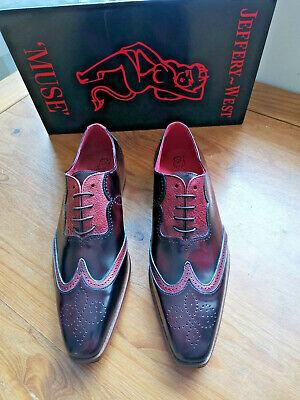 Jeffery West College Burgundy Capone Men's Brogue Shoes (K089) - Size UK 7
