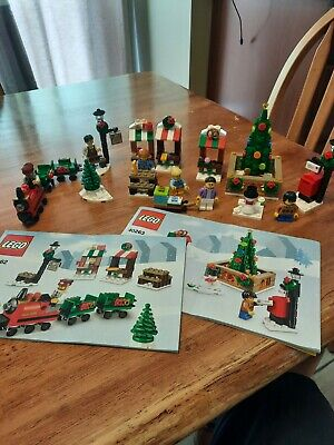 Lego 40262 And 40263 Christmas Train Ride And Christmas Town Square Sets