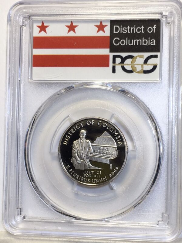 2009 S Proof Dist of Columbia Territory State Quarter PCGS Finest  Clad PR70DCAM
