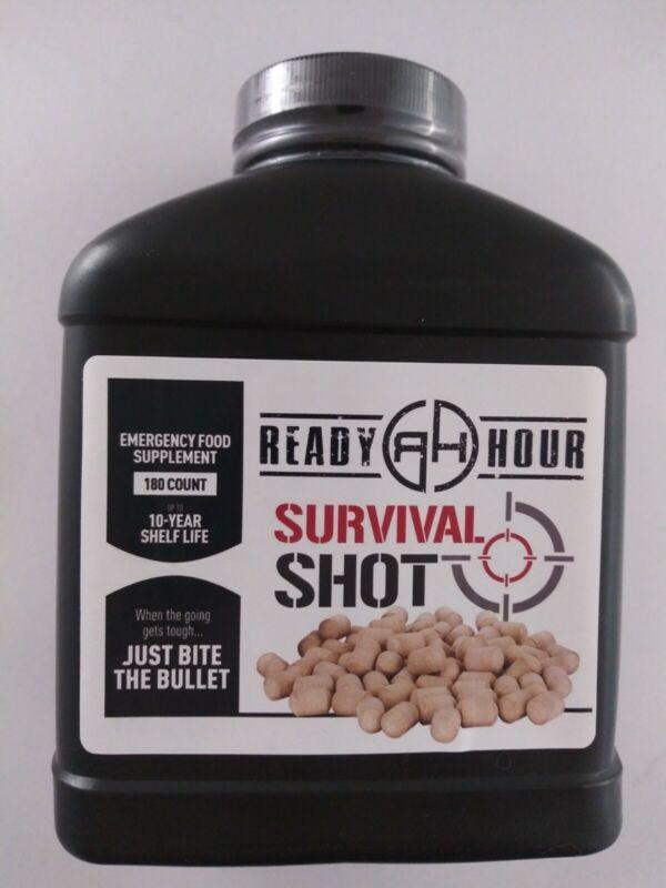 Survival Shot 180 Emergency Food Prepper Tablets Ready Hour 10 year shelf life