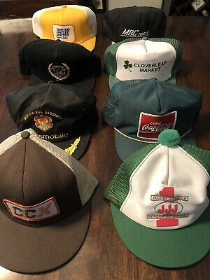 Vintage Trucker Hat Lot, Farming, Cadillac, Coca-Cola, CCX, MAC Tools & More
