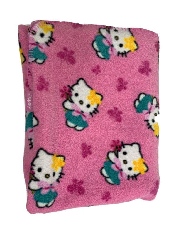 Hello Kitty Fleece Blanket Sanrio 2003 48 X 62