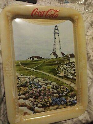 Vintage Boston Lighthouse Coca-Cola Tray Artist Jeanne Mack Issued 1999