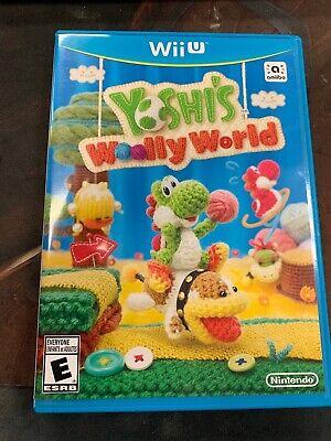 Yoshi's Woolly World (Nintendo Wii U, 2015) Yarn Complete CIB Tested Working