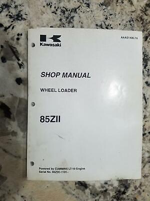 Kawasaki 85z11 Wheel Loader Shop Manual Aaas1406-7a - With Electrical Schematics