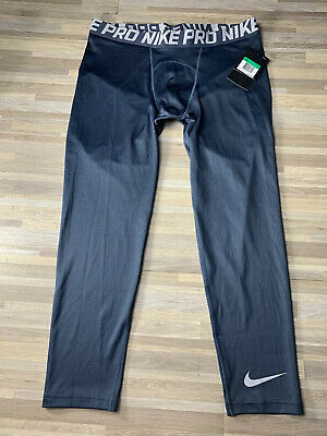 Nike Pro Colorburst 3/4 Length Compression Tights Men's Size XL Blue AH7983-472