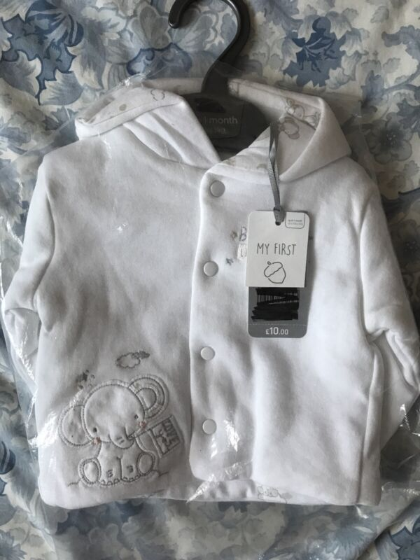 Brand+New+With+Tags+Mothercare+Unisex+Cardigan+0-1+Months+RRP+%C2%A310