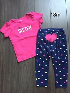 18 month carters girl little sister outfit