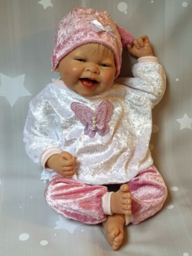 3tlg Set Pullover Hose Mütze Puppenkleidung Baby Born Reborn Babypuppe 43-47 cm