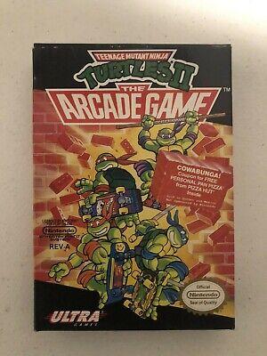 Teenage Mutant Ninja Turtles II 2: The Arcade Game  (NES) - W/ Box, Manual & Ins
