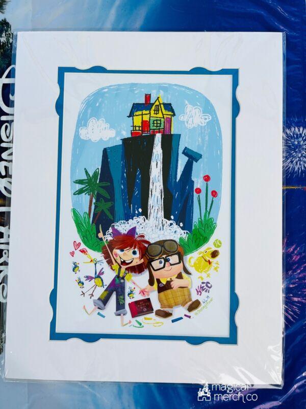 "Disney Parks UP Carl & Ellie Stuff We'll Do Steph Laberis 14x18"" Matted Print"