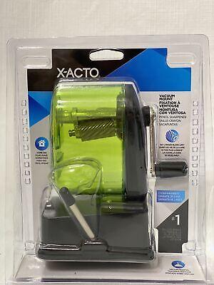 X-acto New Bulldog Vacuum Mount Manual Pencil Sharpener Green 1178