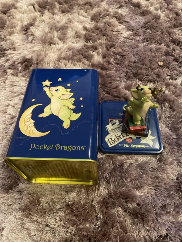 """Pocket Dragon """"Reach For The Stars"""" Handmade dragon. Year 2002 with Cookie Jar"""