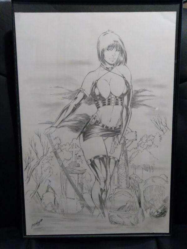 Chastity Original Art 11 x 17