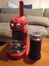 Nespresso Maestria red coffee machine & milk frother Erskineville Inner Sydney Preview