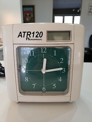 Acroprint Atr120 Analog Time Card Punch Clock Recorder Wall Mountable