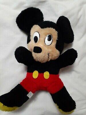 "Vintage Walt Disney RARE Mickey Mouse Plush Stuffed Animal 13"" Factory Defect RA"