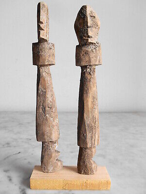 2 Statuettes Fetishes Aklama Adan Ada Ewe 19cm +19cm Art Tribale Primitive