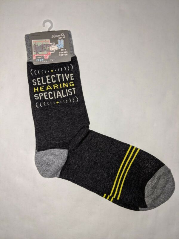 Blue Q Socks Selective Hearing Men