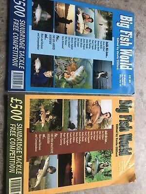 BIG FISH WORLD MAGS # 5 & 6 - SPECIALIST ANGLING - CARP, PIKE, EELS, BARBEL ETC