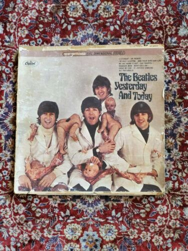 WOW BEATLES Yesterday Today Butcher Cover Album With 1966 Capitol Records Letter