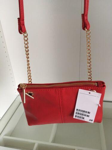 Kleine Handtasche NEU Tasche Damen in Rot mit Kette