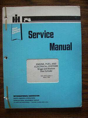 Ih Farmall International Cub Cadet Briggs And Stratton Engine Service Manual