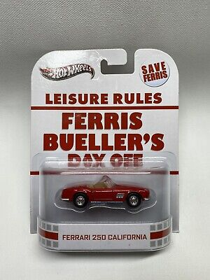 Hot Wheels Ferrari 250 California Ferris Bueller's Day Off Entertainment Series