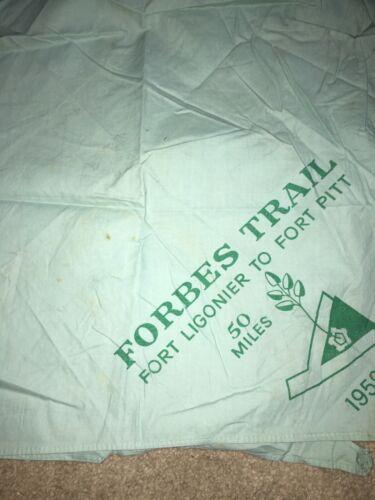 Boy Scout BSA Forbes Fort Ligonier Pitt Pennsylvania 1959 Blue Trail Neckerchief