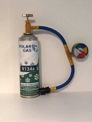 CAR Aircon Refill Regas Air Conditioning Top up R134A Gas hose replacement 490gr