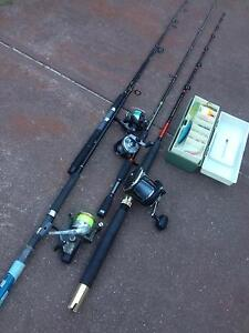Fishing gear the lot quick sale 4 rods and reels Alexander Heights Wanneroo Area Preview