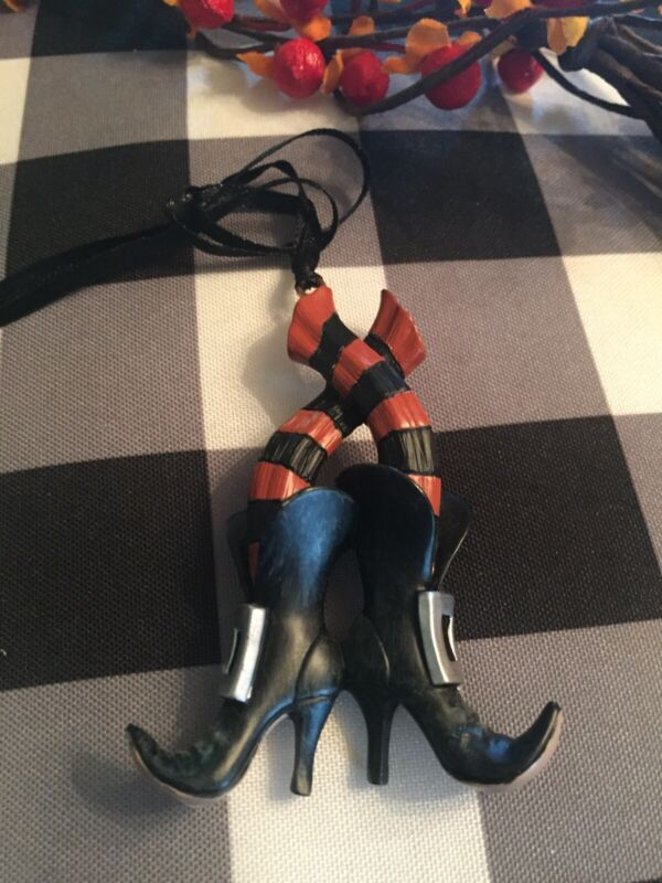Longaberger 2013 WICKED WITCH BOOTS Halloween Tie On RARE! HTF