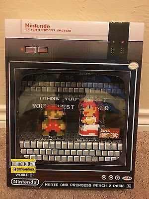 World Of Nintendo Exclusive 8 Bit Mario Princess Peach Sdcc Entertainment Earth
