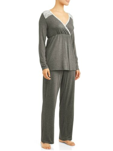 Nurture By Lamaze Maternity Nursing Long Sleeve Top and Pants Sleep Set size XL