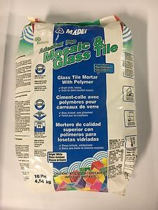 Glass tile mortar 10lb bag
