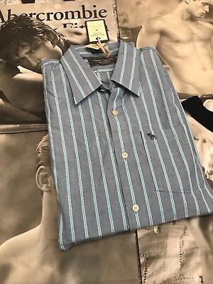 Abercrombie And Fitch Azul Rayas Incredible Camisa - XXL