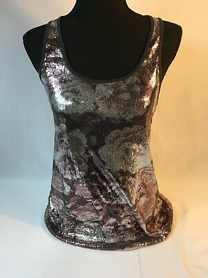 NWT H&M Divided Sequence Rose Tank Size 4 (Small)