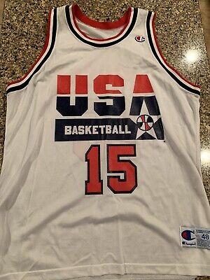 Vintage 90's USA Olympics Magic Johnson Champion NBA Jersey 48