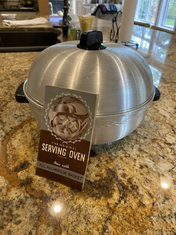 Vintage West Bend Aluminum Serving Oven USA Bun Warmer 3 Piece Stove Top