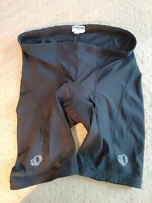 Pearl Izumi Mens XL Belted Biking Riding Cycling PADDED/LINED Black Shorts XL
