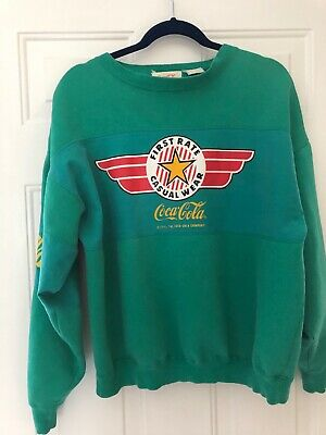 RARE Coca Cola Vtg 80s Sweatshirt Color green Coke sweatshirt XL MENS