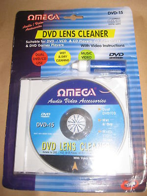 LASER LENS CLEANER CLEANING KIT FOR DVD XBOX PS3 BLU RAY PLAYERS CD DISC OMEGA