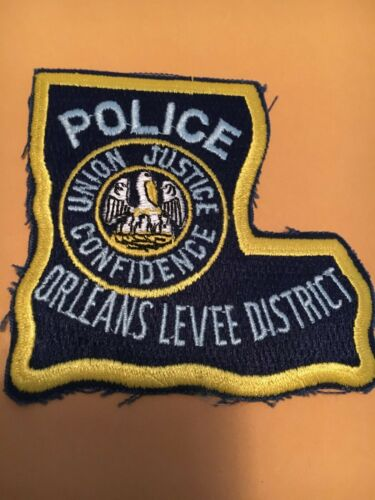 Orleans Levee District Louisiana Police Patch State Shape
